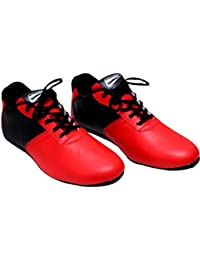 Hommer Faux Leather Tan Red/Black Round Toe Casual Shoes.