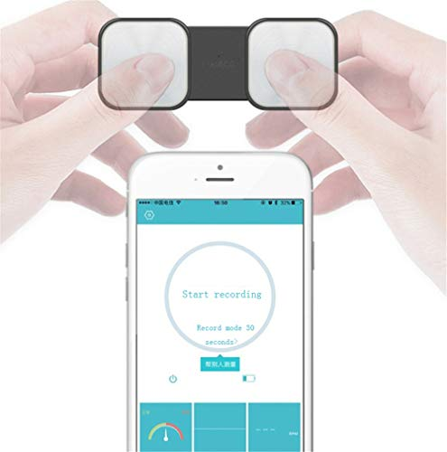 OTO Handheld-EKG-Heim-Herzfrequenzmesser - Drahtlose Herzrhythmussteuerung ohne EKG-Elektroden erforderlich, SnapECG-tragbare EKG-Geräte für den Heimgebrauch für iPhone und Android