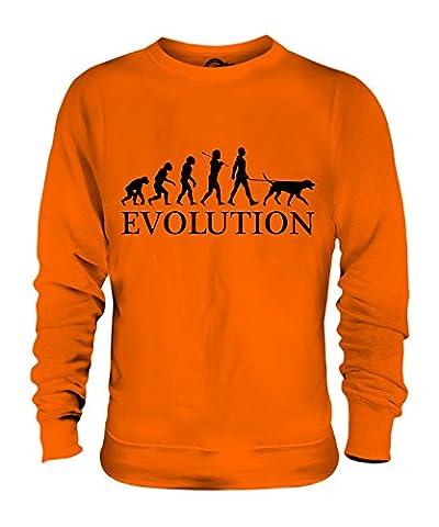 Candymix - Dalmatian Evolution Of Man - Unisex Sweatshirt Mens Ladies Sweater Jumper Top, Size Large, Colour Orange