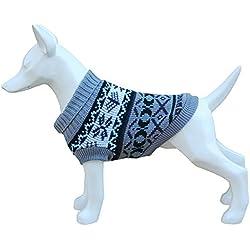 Freedog FD5000918 - Jersey lana hipster, para perro, color gris