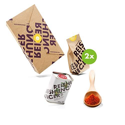 Reishunger Paella Box - Original Spanische Zutaten für traditionelle Paella (200g/5g/150ml) Reissorte: Bomba - Ideal auch als Geschenk