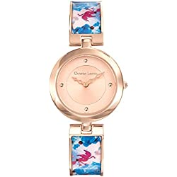 Flower Area - Woman - Christian Lacroix - Watch - Pink PVD Steel Bracelet Lacquered Print - 8010109