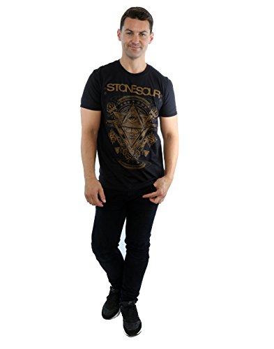 Stone Sour Herren Pyramid Eye T-Shirt Schwarz