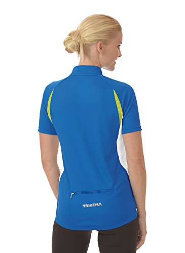 Trigema Damen Trainingsjacke Rad-trikot Coolmax Blau (electric blue 048)