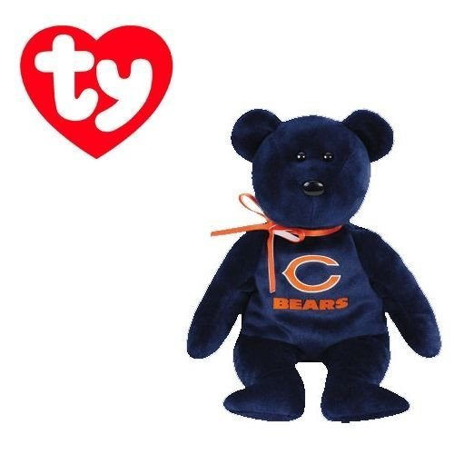 Ty Beanie Baby Chicago Bears Football Bear by Ty