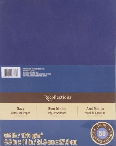 Recollections Erinnerungen Karton Papier Value Pack, 8,5x 11Navy Navy