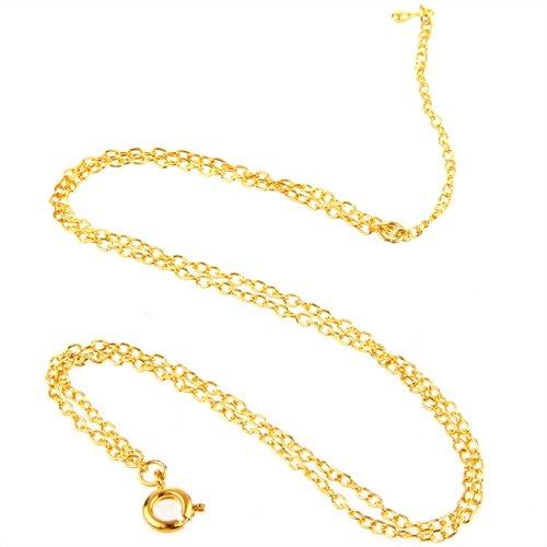 Ecloud Shop Fußkette Fusskettchen Damen Metall 2 Reihe Farbe Gold CHARMS