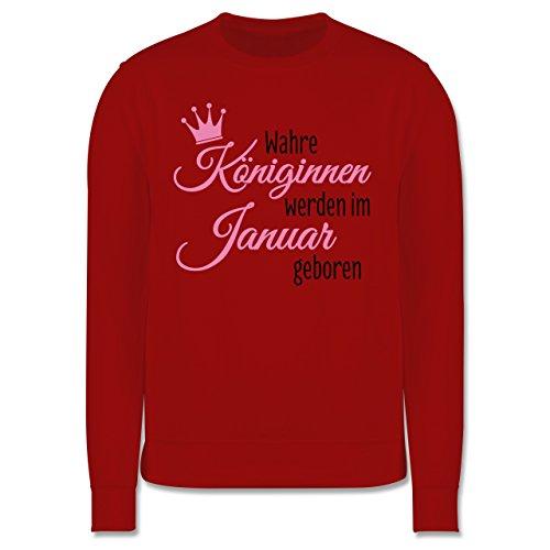 Geburtstag - Wahre Königinnen werden im Januar geboren - Herren Premium Pullover Rot