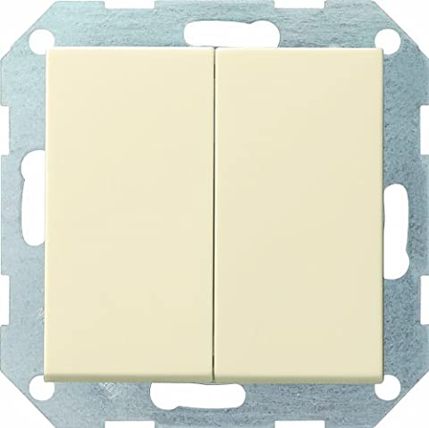 Gira 012801 Tastschalter Wechsel System 55, cremeweiß