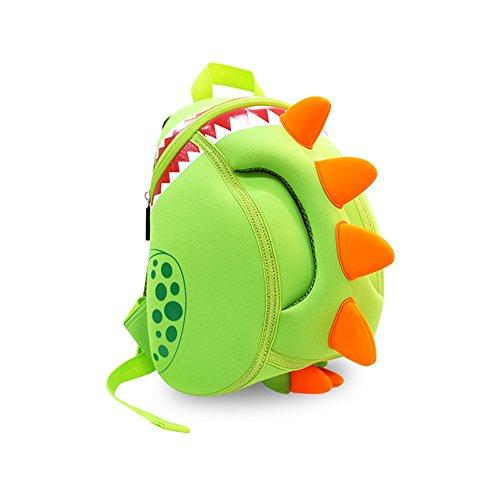 Hanaya Kinderrucksack für Kindergarten,Schule und Wandern,für 2-5 Jahre Mädchen und Jungen, Dinosaurier,Grün