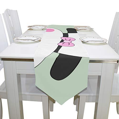 Yushg Chinesische reizende Nette Tier Panda Wilde Kommode Schal Tuch Abdeckung Tischläufer Tischdecke Tischset Küche Esszimmer Wohnzimmer Haus Hochzeit Bankett Dekor Indoor 13x90 ()
