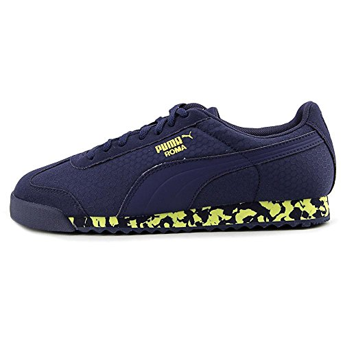 Puma Roma MS Print Jr Synthetik Turnschuhe Peacoat-Limelight