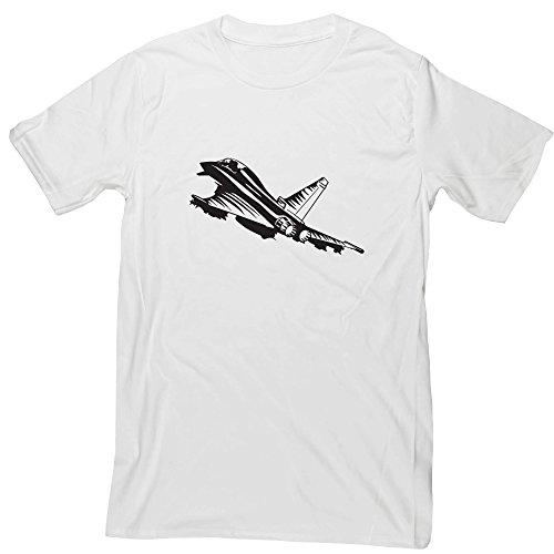 Hippowarehouse Fighter Jet Unisex Short Sleeve T-Shirt (bestimmte Größenangaben in der Beschreibung) Gr. X-Large, weiß (Fluggesellschaften, T-shirt Weißes)