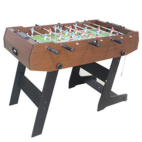 AIPINQI Football Table, 48 inch Folding Foosball Table Indoor Outdoor Mini Game Table Wooden Soccer Foosball Table Competition Table for Adults And Kids Room Sports Game