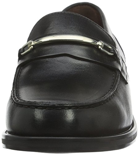 Marc O'Polo Damen 60712923203124 Loafer Slipper Schwarz (black 990)