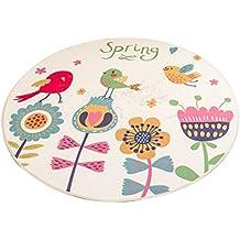 Pájaros y patrón de flores alfombra redonda, para sala de estar Baño