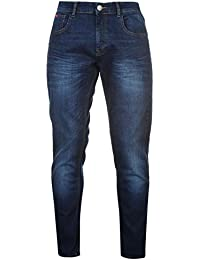 Lee Cooper Stretch Homme Jeans Pantalon En Denim Long Coupe Droite Decontracte