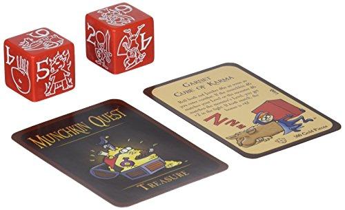 Steve Jackson Games Munchkin Jumbo Dados D6Juego de Cartas (Rojo)