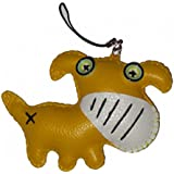 Babiole porte clé chien jaune - accessoire sac en cuir
