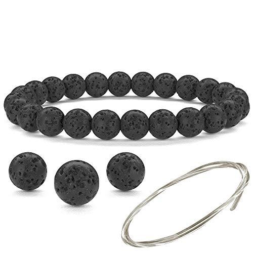 Orti Jewelry 1 Schwarzes Basalt-Armband - Für Damen und Herren