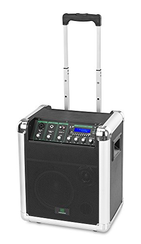 "Pronomic PPA8M Akkubox (Mobiler Trolley 8"" Lautsprecher, PA Anlage, 2-Wege-System, 22 Watt, eingebauter MP3-Player mit USB/SD-Anschluss, Akku mit bis zu 8 Stunden Laufzeit, Bluetooth Schnittstelle)"