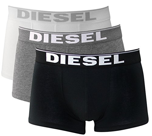3er Pack oder 2er Pack Diesel Herren Boxershorts Unterwäsche Stretch Cotton Fresh & Bright oder Kory S M L XL (L/6, black/white/grey (Kory 3er Pack))