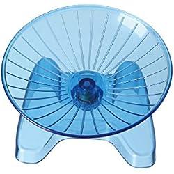 SatisPet - Rueda de Ejercicio para Hámster, Color Azul, plástico ABS Resistente, Rueda de Correr y giratoria para Chinchillas, Ardillas y Ratones (Pequeña)