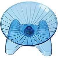 SatisPet Ultimate Hamster disco volante ruota per esercizi, blu–durevole in ABS per scoiattoli cincillà, mouse & running & spinning Wheel (Small)