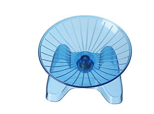 SatisPet Ultimate Hamster disco volante ruota per esercizi, blu-durevole in ABS per scoiattoli cincillà, mouse & running &...