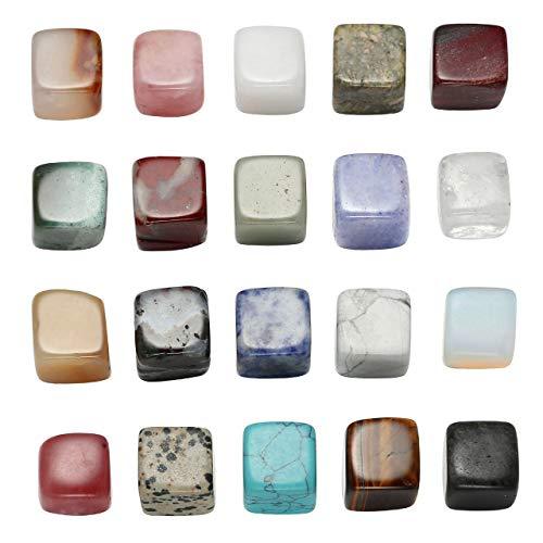 CrystalTears 20x Mini Quarder Edelsteine CHAKRA KIT Krystal Healing Balance Reiki Set