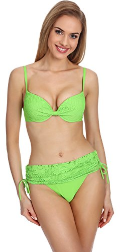 Merry Style Damen Push Up Bikini Set P504-55 (Grün, Cup 85 B/Unterteil 42)