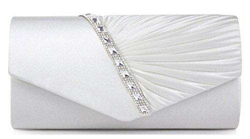 di 27×11×5cm stile Sacchetto Dolce a Mano Dimensione Borsetta Donna Borsa 26 Y Festa Borsa bianca Pochette Cloud Elegante 5cm Sera 15 wvqX4xRAA