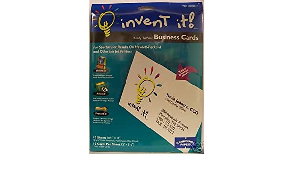 Hammermill Invent It Blank Business Cards By Amazonde Burobedarf Schreibwaren