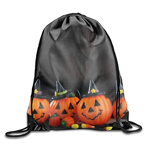 loween Jack o Lantern Tunnelzug Rucksäcke Beam Mouth Yoga Sackpack Rucksack Shoulder Bags for Men Women Holiday Halloween Jack o lantern8 Lightweight Unique 17x14 IN ()