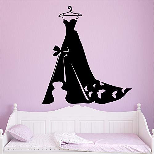 AiyoAiyo Damen abendkleid tapete dekoration wandaufkleber für schlafzimmer kleiderschrank wandbild 1 30 * 32 cm