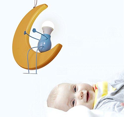 Kronleuchter zu Hause personalisierte Kronleuchte Kinderzimmer-Leuchter kreative Persönlichkeit Cartoon Mond Jungen und Mädchen Baby-Raum-Licht-Lampen - 2