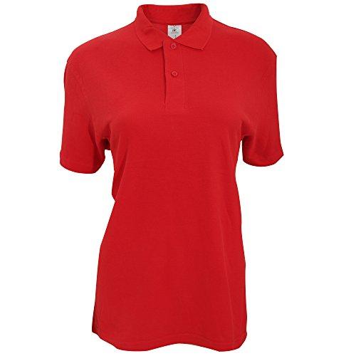 B&C ID.001 Damen Polo-Shirt, Kurzarm Rot