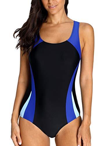 Charm Racer Back Sports Einteiler Bademode für Damen Figuroptimizer Training Badeanzug Strandbekleidung 2XL