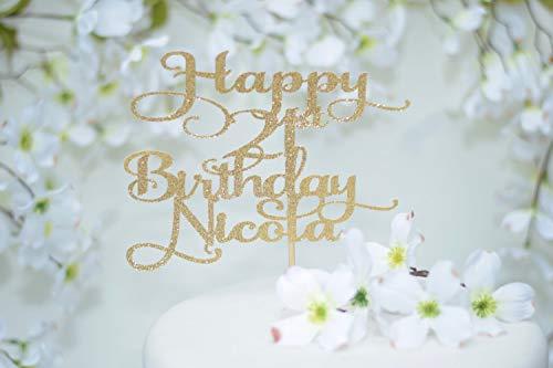 21St Birthday Cake Topper ~ 21St Birthday Decoration ~ Finally Legal ~ 19Th Birthday Cake Topper ~ 18Th Birthday Cake Topper ~ Happy 21St Glitter Cardstock Topper