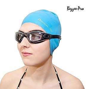 bonnets de bain pour hommes femmes bonnets de natation en silicone r sistant avec caches. Black Bedroom Furniture Sets. Home Design Ideas