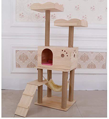 Aoligei Cat Scratching Tree Katzenauge Nest Hanf Mat Raubkatze Rack Cat Scratch Board Katze kratzen Säule Katze Sprung 50 * 40 * 138 cm