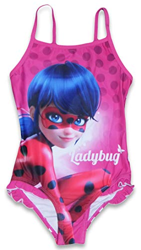 Miraculous Ladybug Mädchen Badeanzug (Rosa, 8 Jahre)