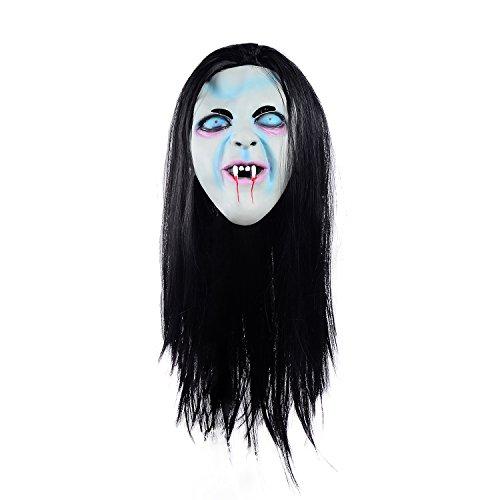 Ohuhu® Halloween Horror Maske Sadako Halloween Cosplay Kostüm Maske Halloween Maske Horror Geistermaske --Kostüm Weihnachtsdekoration Cosplay Partei (Masken Helloween)