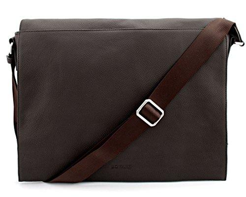 41XaLGeYgNL - Bovari echt Leder Messenger Bag Umhängetasche Schultertasche Laptoptasche Notebooktasche (bis 15,6 Zoll) Model Metz - Herren Damen - 39x31x9 cm - Limited Premium Edition