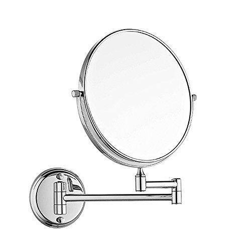 Desconocido Montaje en Pared de Maquillaje Espejo 3x aumentos 8Pulgadas de Dos Caras...