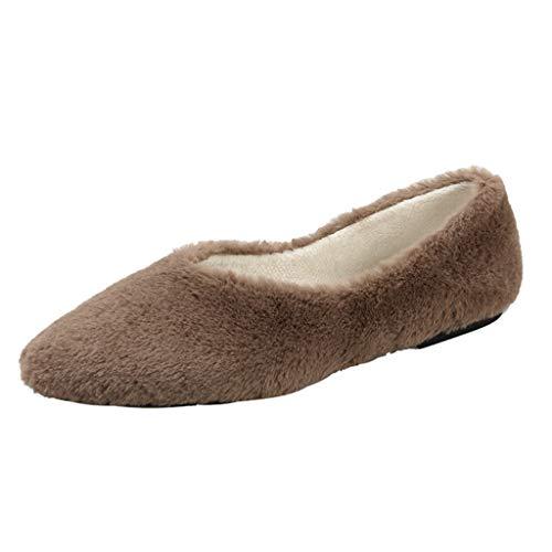 Anglewolf Damen Klassischer Weicher Echte Lederschuhe FüR Niedrige Schuhe Fahren BeiläUfig Wohnungen SchlüPfen Mode Abendschuhe Komfort Loafers Schuhe - Elch Echte Mokassin