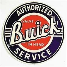 SERVICIO AUTORIZADO DE BUICK REDONDO METAL SIGN