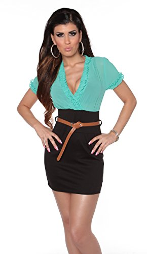 In-Stylefashion -  Vestito  - Donna Mintschwarz