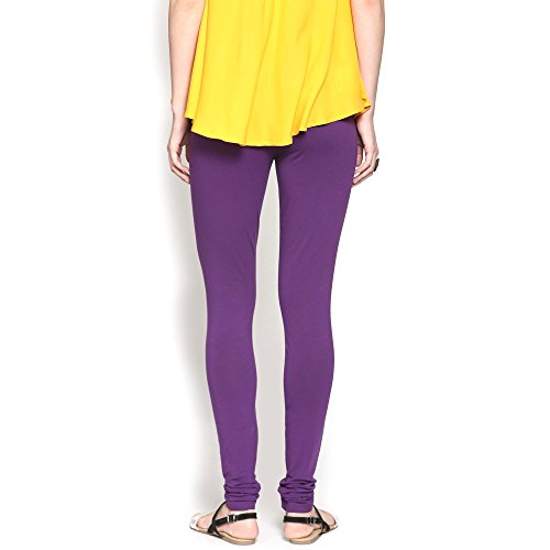 Abof Women's Synthetic Leggings (ABOFS16AWEWCH11433010S_Purple_Small)