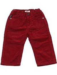 8222U pantalone bimbo ARMANI BABY bordeaux velvet trouser pant kid